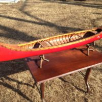 5' Salesman Sample Red Canoe Antique